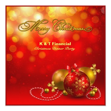 Red & Gold Company Christmas Party Invitation