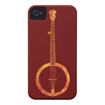 Red Hot Banjo iPhone 4 Case-Mate Case
