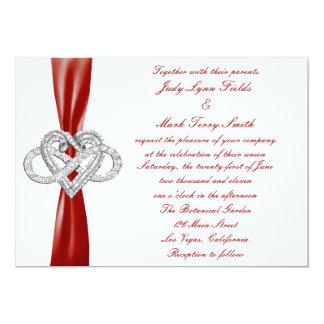 Red Infinity Heart Wedding Invitation