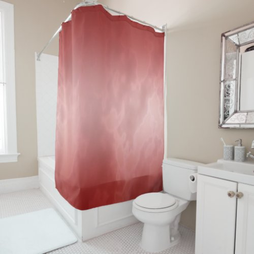 Red Marble Shower Curtain