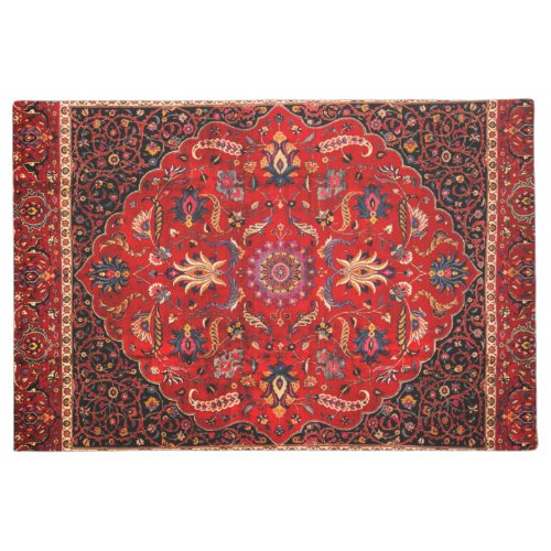 Red Persian Rug from Mashhad