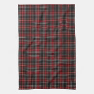 punk Red Plaid Tartan Kitchen Towel Dishcloth dish cloth