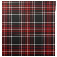 Red Plaid Tartan Napkins on Zazzle