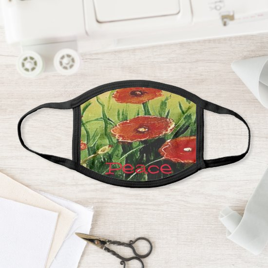 Red Poppies Face Mask