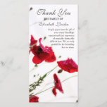 ❤️ Pretty Red Poppies Funera; Sympathy Thank You Card