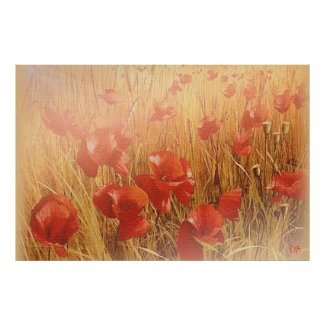 Red Poppies On Canvas Reprints