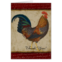 Red Rooster Thank You Card
