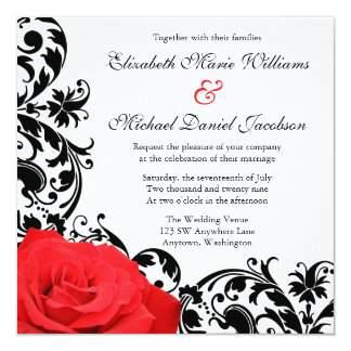 Black And Red Wedding Invitations Which Can Be Used To Make Your Own Invitation Design 4