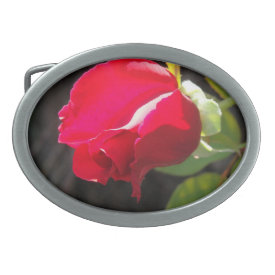 Red Rose Bud - Belt Buckle
