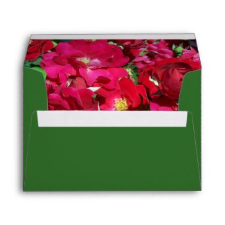 Red Rose Bush Envelope envelope
