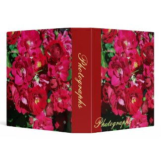Red Rose Bush Photo Binder binder