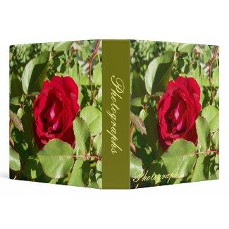 Red Rose Photo Binder binder