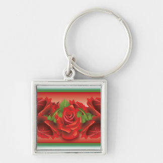 Red Roses Montage Key Chains