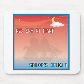 Red Sky At Night Mouse Pads
