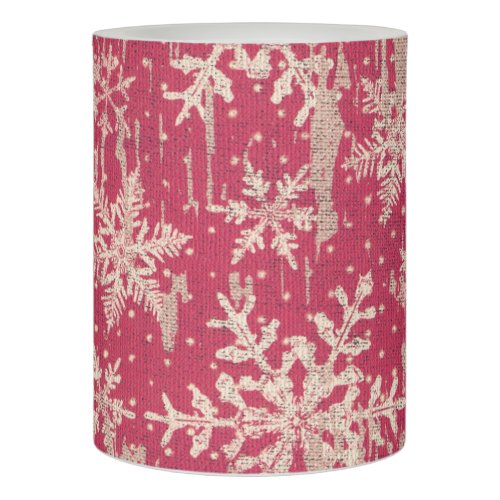 red snowflake Christmas Winter holiday led candle