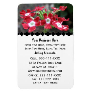 Red Verbena Flower:Premium Magnet premiumfleximagnet