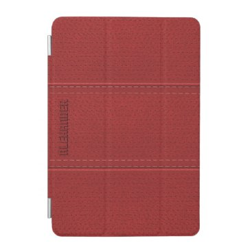 Red Vintage Worn-Out Faux Leather Look iPad Mini Cover