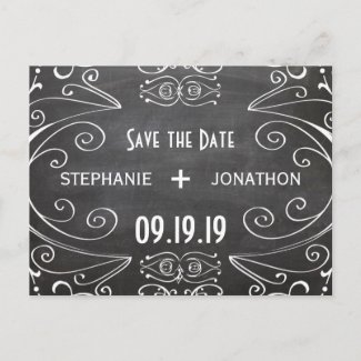 Red White and Blue Vintage Save the Date