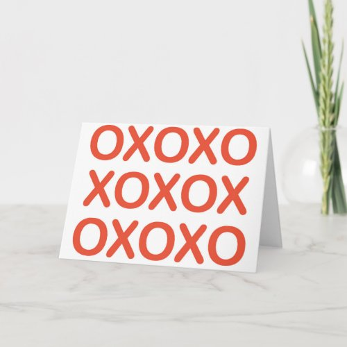 Red XOXO Greeting Card