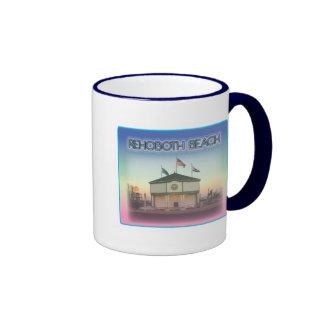 Rehoboth Beach Delaware - Rehoboth Ave Scene Coffee Mugs