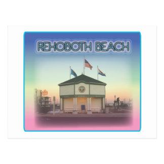 Rehoboth Beach Delaware - Rehoboth Ave Scene Post Card