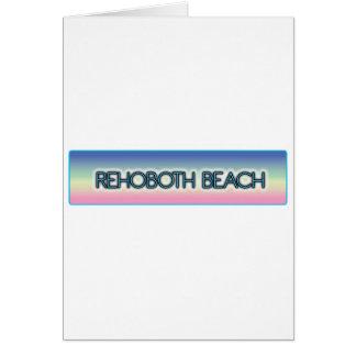 Rehoboth Beach Pastel Rainbow Style 1 Card