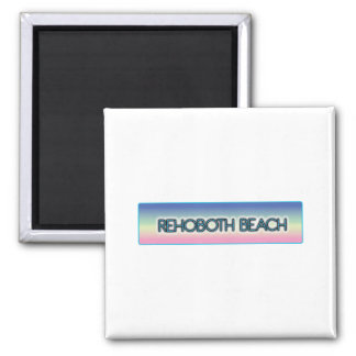 Rehoboth Beach Pastel Rainbow Style 1 Fridge Magnets