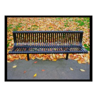 Relaxing bench - Poster print
