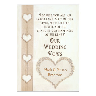 Tropical Wedding Vow Renewal Card
