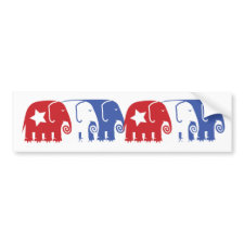 Republican Elephants Bumper Stickers