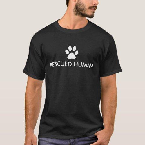 Rescued Human Paw Print T-Shirt
