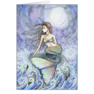 Restless Tide Mermaid Greeting Card