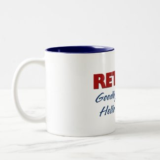 Retired: Goodbye Tension Hello Pension! mug