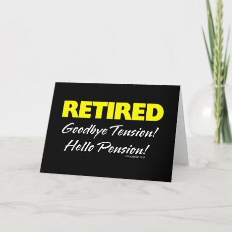 Retired Hellow Pension (Dark) Card