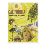 Retro Airlines California Advertisement Postcard