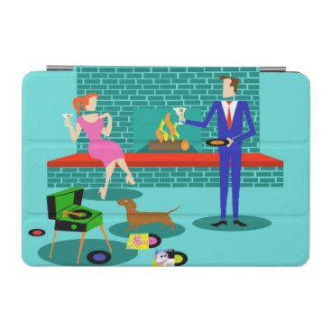 Retro Couple with Dog iPad Mini Cover