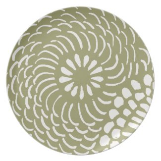 Retro Floral Pattern plate