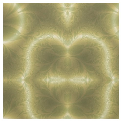 Retro Green and Gold Fabric