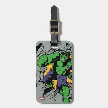 Retro Hulk Smash! Luggage Tag