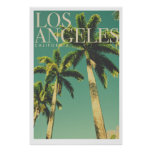 Retro Los Angeles Palm Tree Poster