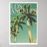 Retro Los Angeles Palm Tree Poster