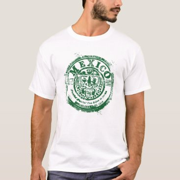 Retro Mexico Aztec Ruins Postage Seal T-Shirt
