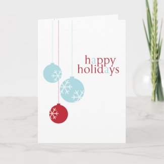 Retro Modern Holiday Ornaments Card card