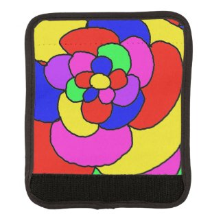 Retro petals luggage handle wrap