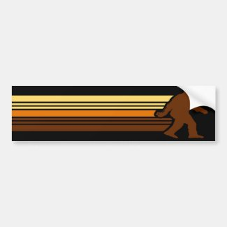 Retro Sasquatch Bumper Sticker