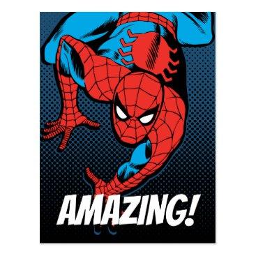 Retro Spider-Man Wall Crawl Postcard