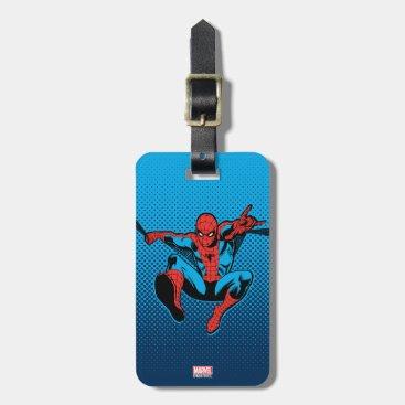 Retro Spider-Man Web Shooting Luggage Tag