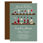 Retro Stock the Bar Couples Shower Invitation