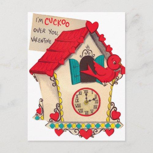 Retro Valentine bird Holiday Vintage postcard