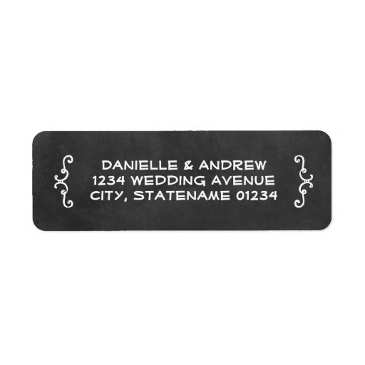 Return Address Labels Black Chalkboard Charm